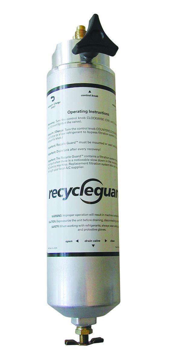 Recyklační filtr pro R134a